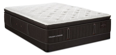 Stearns & Foster Founders Collection Lancaster Bay Pillowtop Low-Profile Queen Mattress Set  | Ensemble matelas à plateau-coussin à profil bas Lancaster Bay Stearns & Foster pour grand lit  | LANCSLQP