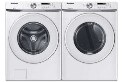 Samsung 5.2 Cu. Ft. Front-Load Washer and 7.5 Cu. Ft. Electric Dryer - White - Laundry Set in White