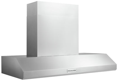 "KitchenAid 48"" Wall-Mount Canopy Range Hood with Food Warming Lamps - KVWC958JSS 