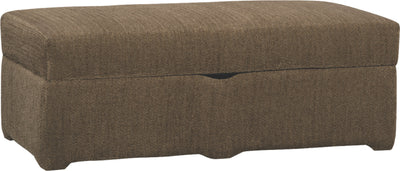 Morty Chenille Storage Ottoman - Brown | Pouf de rangement Morty en chenille - brun | MORTY-SO