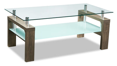 Harvy Coffee Table - Contemporary style Coffee Table in Hazlenut Medium Density Fibreboard (MDF)
