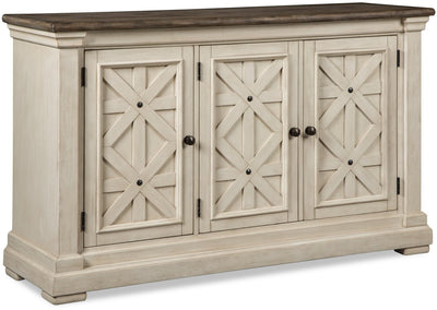 Ilsa Server - Country style Server in Antique White Asian Hardwood