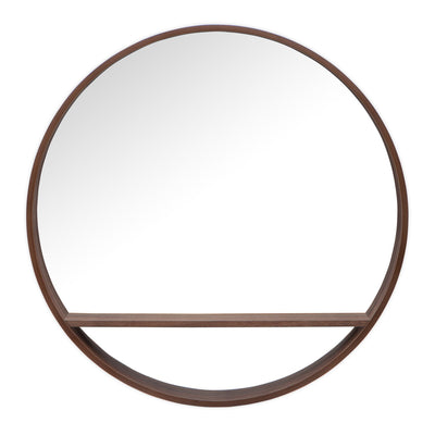 "Round Mirror with Shelf - 32"" x 32"" 