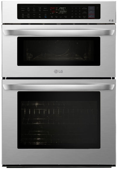 LG 6.4 Cu. Ft. Smart Combination Double Wall Oven - LWC3063ST - Double Wall Oven in Stainless Steel