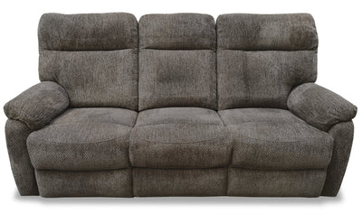 Yola Chenille Reclining Sofa - Brown | Sofa inclinable Yola en chenille – brun | YOLAGRRS