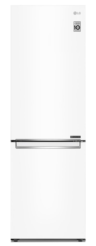 LG 12 Cu. Ft. Counter-Depth Bottom-Freezer Refrigerator - LBNC12231W - Refrigerator in White