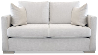 Austin Fabric Loveseat - Glacier - Modern style Loveseat in Glacier Plywood, Solid Woods