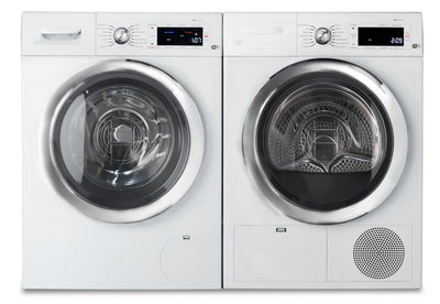 Bosch 800 Series 2.2 Cu. Ft. Compact Washer and 4.0 Cu. Ft. Compact Electric Dryer – White - Laundry Set in White