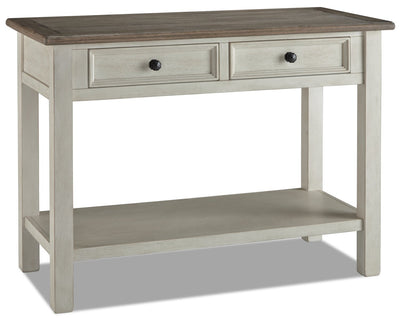 Colby Sofa Table  - Rustic style Sofa Table in Weathered oak and antique white