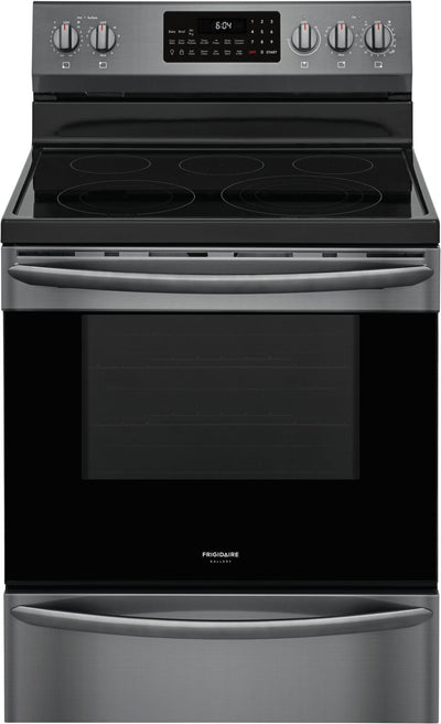Frigidaire Gallery 5.7 Cu. Ft. Freestanding Electric Range with Air Fry - GCRE306CAD - Electric Range in Smudge-proof Black Stainless Steel