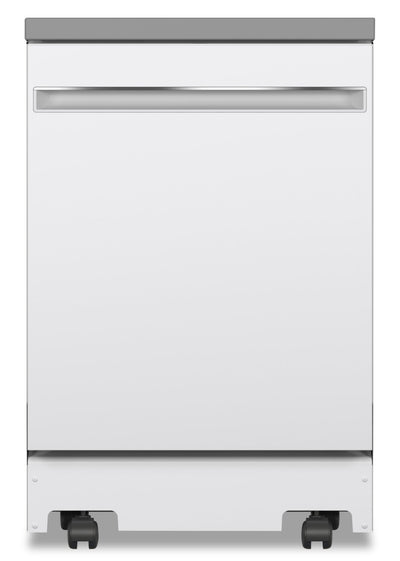 "GE 24"" Portable Top-Control Dishwasher - GPT225SGLWW - Dishwasher in White"