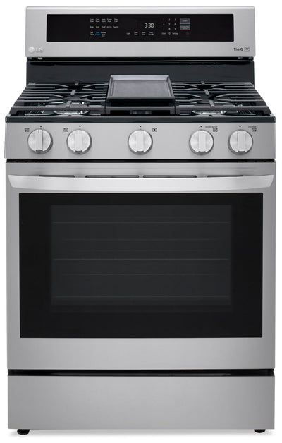 LG 5.8 Cu. Ft. Smart True Convection Gas Range with Air Fry - LRGL5825F - Gas Range in Stainless Steel