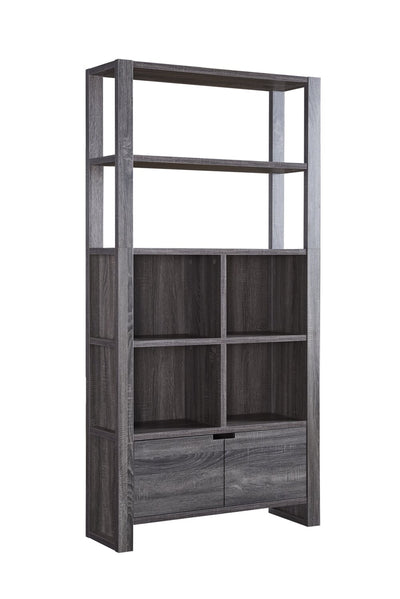 "75"" Bookcase - Grey  - Contemporary style Bookcase in Grey Medium Density Fibreboard (MDF)"