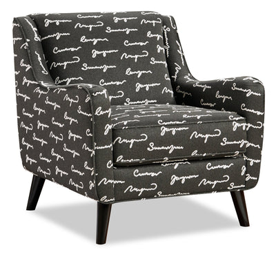 Daphine Fabric Accent Chair - Poetry Iron | Fauteuil d'appoint Daphine en tissu - Fer Poetry | DAPHPIAC