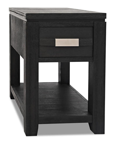 Bronx Chairside Table - Charcoal | Table de fauteuil Bronx - anthracite | BRONCCST