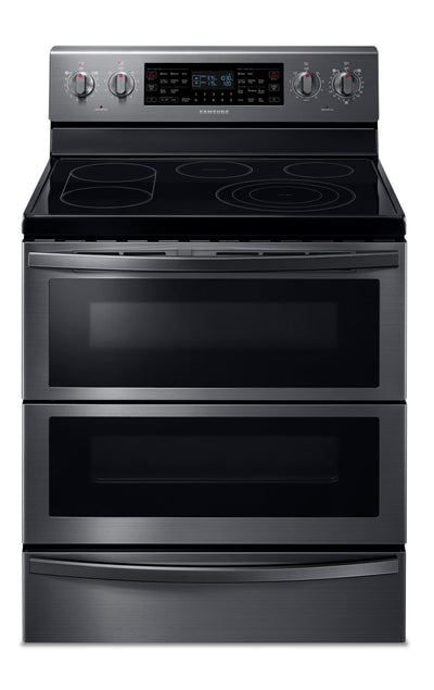 Samsung 5.9 Cu. Ft. Freestanding Electric Range with Flex Duo™ - NE59T7851WG/AC - Electric Range in Black Stainless Steel