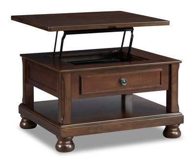 Porter Coffee Table with Lift Top - Brown  | Table à café Porter avec dessus relevable - brun  | T697-0CT
