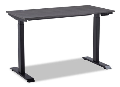 Carson Dual-Motor Lift Desk - Black - Contemporary style Desk in Black Medium Density Fibreboard (MDF), Particleboard