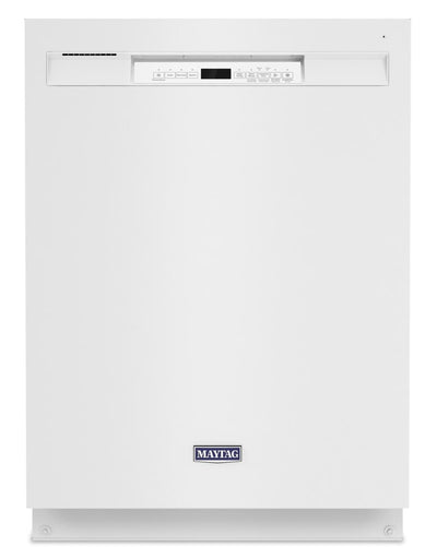 Maytag Front-Control Dishwasher with Dual Power Filtration - MDB4949SKW - Dishwasher in White