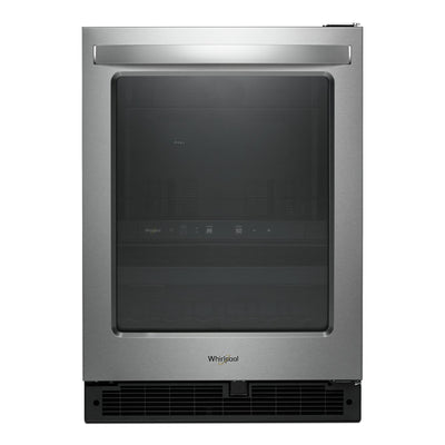 Whirlpool 5.2 Cu. Ft. Under-Counter Beverage Centre - WUB50X24HZ - Beverage Centre in Fingerprint-Resistant Stainless Steel