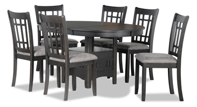 Dena 7-Piece Dining Package - Grey-Brown | Ensemble de salle à manger Dena 7 pièces - gris-brun | DENAGDP7