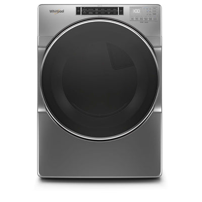 Whirlpool 7.4 Cu. Ft. Closet-Depth Electric Dryer with Steam - YWED8620HC - Dryer in Chrome Shadow