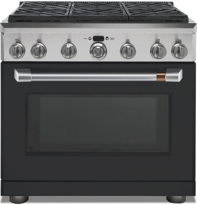 Café 5.75 Cu. Ft. Dual-Fuel Professional Range with 6 Natural Gas Burners - C2Y366P3MD1 | Cuisinière hybride professionnelle Café de 5,75 pi3 avec 6 brûleurs au gaz naturel - C2Y366P3MD1 | C2Y366PD