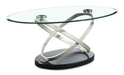 Vikki Coffee Table  - Contemporary style Coffee Table in Champagne Glass