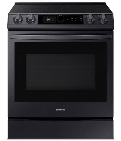 Samsung 6.3 Cu. Ft. Slide-In Electric Range with True Convection - NE63T8711SG/AC - Electric Range in Black Stainless Steel