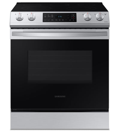 Samsung 6.3 Cu. Ft. Slide-In Electric Range with Wi-Fi Connect - NE63T8111SS/AC - Electric Range in Fingerprint Resistant Stainless Steel