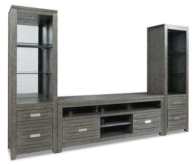 "Bronx 3-Piece Entertainment Centre with 60"" TV Opening - Grey 