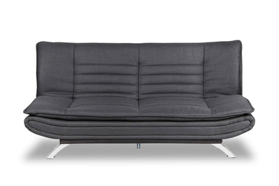 Cameron Linen-Look Fabric Futon - Grey - Contemporary, Modern style Futon in Grey Engineered Wood