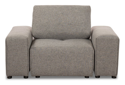Modera Linen-Look Fabric Modular Chair - Grey - Modern style Chair in Grey Pine, Plywood