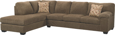 Morty 2-Piece Chenille Left-Facing Sectional - Brown