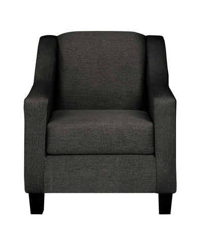 Alda Chenille Chair - Charcoal - Contemporary style Chair in Charcoal Solid Woods