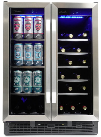 Silhouette Emmental 5.1 Cu. Ft. Dual Zone French-Door Beverage Centre - SBC051D1BSS - Beverage Centre in Stainless Steel