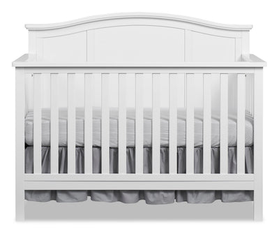 Emerson 4-in-1 Convertible Crib - Snow White - Traditional style Crib in Snow White Solid Woods