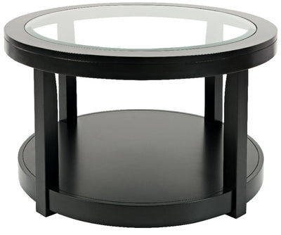 Corey Round Coffee Table - Black | Table à café ronde Corey - noire | CORBRCTB