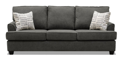 Jersey Linen-Look Fabric Sofa - Fragalistic Charcoal