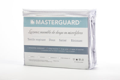 Masterguard® 4-Piece King Sheet Set - Light Grey | Ensemble de draps MasterguardMD 4 pièces pour très grand lit - gris pâle | LTGRYSKS