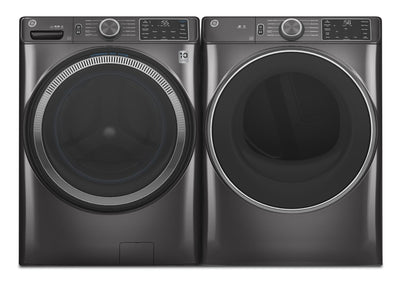 GE 5.5 Cu. Ft. Front-Load Washer and 7.8 Cu. Ft. Front-Load Gas Dryer  | Laveuse GE à chargement frontal de 5,5 pi³ et sécheuse à gaz à chargement frontal de 7,8 pi3  | GEFL55GG