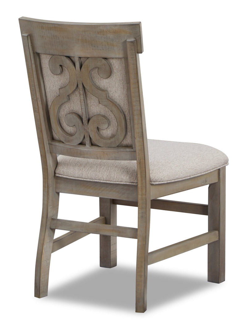 Keswick Upholstered Dining Chair Dovetail Grey The Brick