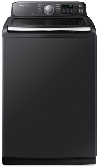 Samsung 5.8 Cu. Ft. Top-Load Washer - WA50T7455AV/A4 - Washer in Black Stainless Steel