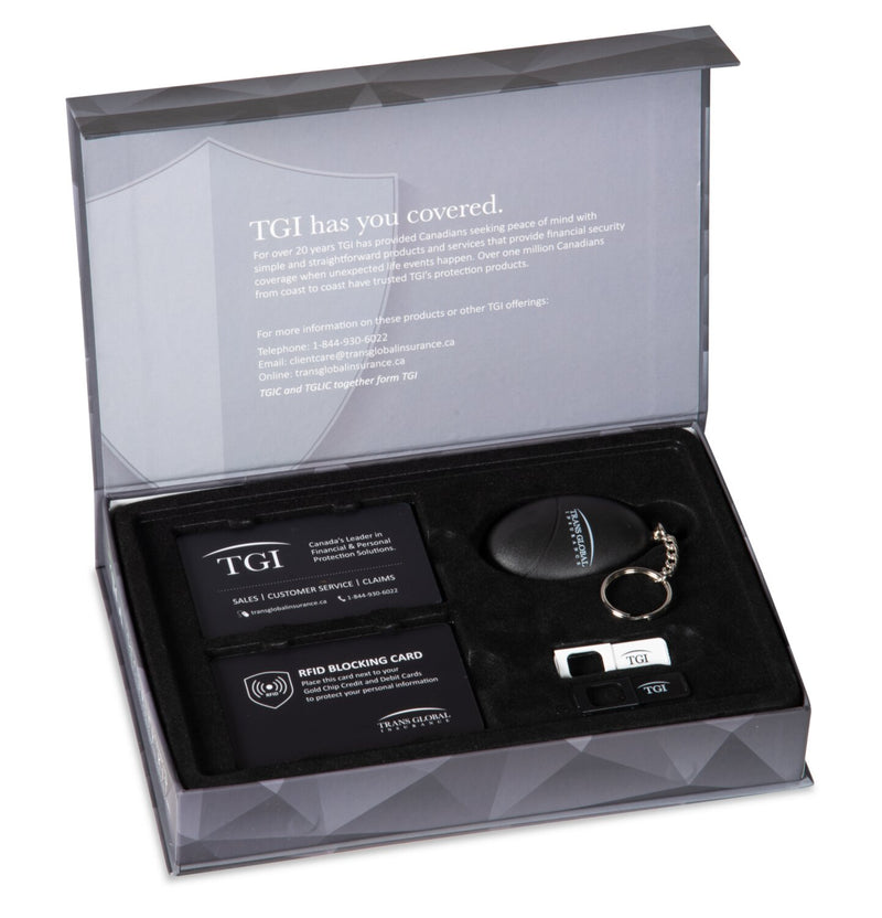 Trans Global Insurance Personal Information and Financial Security Kit | Trousse de sécurité des renseignements personnels et financières de Trans Global Insurance | TGIKITEN
