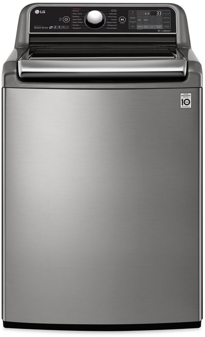 LG 6.0 Cu. Ft. Top-Load Washer with TurboWash3D™ Technology - WT7850HVA - Washer in Stainless Steel