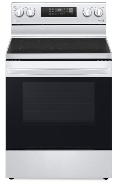 LG 6.3 Cu. Ft. Smart Convection Electric Range with Air Fry - LREL6323S - Electric Range in Stainless Steel