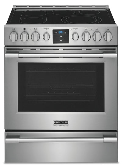Frigidaire Professional 5.4 Cu. Ft. Freestanding Electric Range with Convection - PCFE307CAF | Cuisinière électrique amovible Frigidaire Professional de 5,4 pi³ à convection – PCFE307CAF | PCFE307F