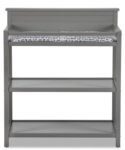 Emerson Changing Station with Changing Pad - Dove Grey - Traditional style Changing Table in Dove Grey Solid Woods