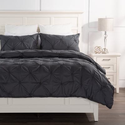 Brianna Dark Grey 3-Piece Full/Queen Comforter Set|Ensemble d'édredon Brianna 3 pièces gris foncé pour lit double ou grand lit|BRIDG3FQ