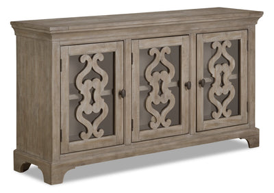 Keswick Server – Dovetail Grey - Rustic style Server in Dovetail Grey Pine, Plywood